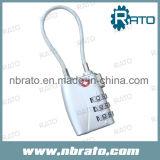Combinaison à 3 côtés en alliage de zinc Tsa Cable Lock
