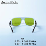 Lasersicherheits-Schutzbrillen/Gläser Ady 740-1100nm Cer-Bescheinigung die meisten populären Lasersicherheits-Glas-Lasersicherheits-Schutzbrille-Laser-Augenschutz-Gläser