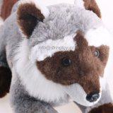 Plush Emulational Fox Toy in Blue Mood