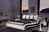 새로운 우아한 디자인 침실을%s 현대 진짜 가죽 침대 (HC385)