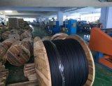 La figura 8 cavo ottico allentato esterno della fibra del tubo con il membro d'acciaio, gelatina ha riempito Auto-Supporta GYTC8S