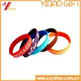 도매 주문 로고 실리콘 팔찌와 실리콘 소맷동 승진 선물 (YB-HR-378)