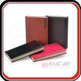 カスタムPUの革ハードカバーのオルガナイザーの議題ノートおよび日記