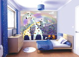 漫画のキリン映像の居間は部屋の油絵をからかう