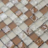 Azulejos de mosaico de cristal agrietados, mosaico anaranjado del color