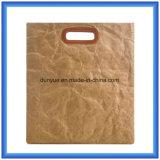 Bolso de compras de papel cómodo de papel de /Eco Tyvek del bolso de totalizador de Du Pont del diseño simple/bolso elegante del regalo con la maneta del cuero de la PU