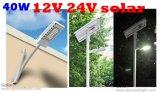 Shenzhen, China fábrica 40 W 12V 24V 36V 40W Luminaria LED de iluminación solar de la calle