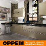 Зеленый Золотой Silver-Flashing Oppein современным кухонным шкафом (OP16-L26)