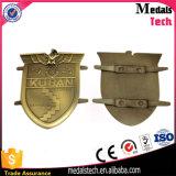 Accessoires de sacs Gunmetal Plaque signalétique surélevée Marque de logo en métal