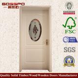 Festes Holz-Badezimmer-Tür-Entwurf mit bereiftem Glas (GSP3-041)