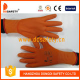 Ddsafety 2017 померанцовых перчаток покрынных PU работая