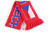Связанный зимой шарф футбола команды