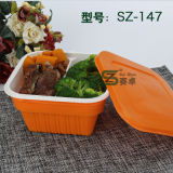 960ml engrossam com o recipiente de armazenamento plástico descartável do alimento da bandeja interna