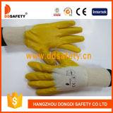 Gants 2017 enduits de sûreté de la CE de gants de coton de nitriles de Ddsafety