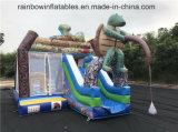 Раздувной хвастун Trampolin темы черепахи с скольжением для малышей