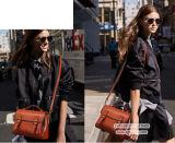 2017 Vintage Style Cow Leather Messager Bag Senhoras Shoulder Bag Handbag Manufactory em Guanzhou Emg5011