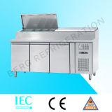 Refrigerador refrigerado de la barra del vector, de la pizza, del emparedado y de ensalada de la preparación de Pizza&Salad