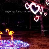 Decoraciones de la Navidad del diseño LED del corazón de la decoración de la iluminación