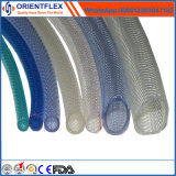 PVC transparent flexible en plastique renforcé de fibre flexible tressé