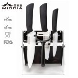 5PCS Ceramic Houseware / Kitchen Knife Set com titular para Gift Set
