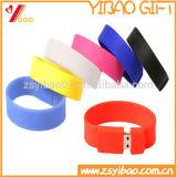 Azionamento promozionale dell'istantaneo del USB del Wristband, flash all'ingrosso del USB 1GB del braccialetto