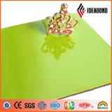 Панель украшения High-Gloss зеленого покрытия полиэфира логоса 3mm магазина алюминиевая