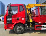 FAWは価格6トンのとトラック12トンの貨物自動車のXCMGクレーン取付けた