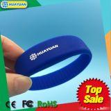 bracelete da faixa de pulso RFID do sistema de pagamento 13.56MHz do E-bilhete MIFARE DESFire EV1 2K
