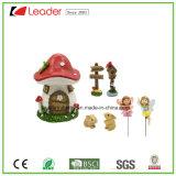 Mais recente Polyresin Mushroom House Fairy Garden Miniature para decoração de casa e ornamentos de jardim