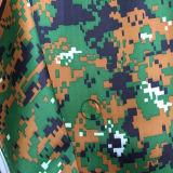 Camouflage Afgedrukte die Taslon met Pu voor Militaire Eenvormig met een laag wordt bedekt
