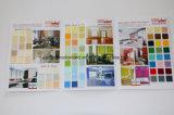 Folheto de cartão de sombra de tinta de pintura de parede para material de construção