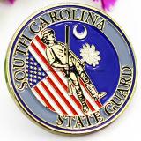 승진 선물 관례 미국 판매를 위한 군 금속 3D 연약한 사기질 금 기념품 도전 기념 동전