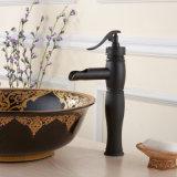 Robinet de mélangeur de lavabo de salle de bain à robinet en bronze huilé