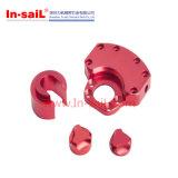 주문을 받아서 만들어진 알루미늄 빨간 Anodied CNC 기계로 가공 부속