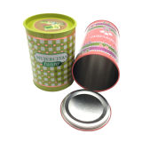 De ronde Levering voor doorverkoop van de Doos van het Tin van de Container van het Tin van het Parfum van het Blik van het Tin van de Vorm