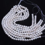 10mm 11mm White Potato Freshwater Pearl Strand Wholesale
