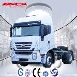 Iveco 4X2 45t 290HP 편평한 지붕 긴 트랙터 트럭