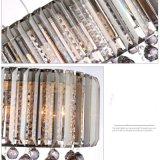 Lâmpada pingente de cristal decorativo de estilo europeu com sombra de tecido