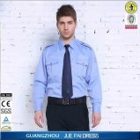 Personalizar o uniforme do vestido da guarda de segurança dos homens / a camisa de segurança barata / o projeto branco do protetor da segurança