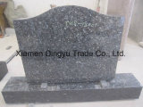 Blue Pearl Granite Leaning Angel Carving Monumento Heart Tombstone