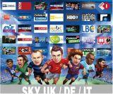 1 an d'IPTV ciel des chaînes HD de l'Italie Royaume-Uni Allemagne ES NL PT PL SE Gr Tr arabe de l'Afrique 1600 canaux HD