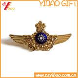 Caldo vendendo duro/delicatamente il Pin dello smalto, il Pin del risvolto, distintivo del metallo/muore i perni del risvolto del distintivo del metallo del getto (YB-lp-18)