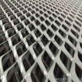 電流を通された拡大された金属線の網の塀