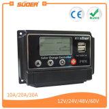 12V Controlador Controlador Solar Suoer inteligente 30A de carga solar de energía para uso doméstico regulador solar con salida USB 5V 1A (ST-W1230)