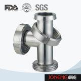 Tipo de acero inoxidable de doble curva Sanitaria Tee (JN-FT5003)