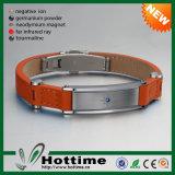 Neueste 5 in 1 magnetischem Energie-echtes Leder-Armband (CP-JS-PG-009)