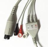 Cavo medico del Leadwire ECG dello schiocco 3 di IEC del video 6pin di Cwhm3a