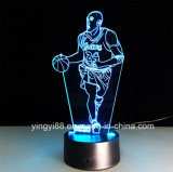 Yyb 3D Acrylic LED Night Light, lâmpada 3D Acrílico Home Decor