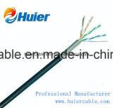 Cable de LAN del ftp Cat5e del CPR UTP con el conductor de cobre sólido