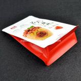 Flache Unterseiten-Fastfood- Beutel-Aluminiumfolie-Reißverschluss-Verschluss-Kaffee-Beutel-Matt lamellierte aufrechte Nahrungsmittelplastiktasche